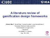 A literature review of gamification design frameworks