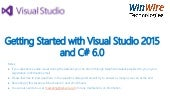 Getting Started with Visual Studio 2015 and C# 6.0