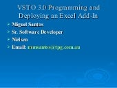 Vsto 3 Excel Add-in SNUG