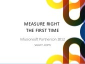 Measure Right the First Time - Infusionsoft Partnercon