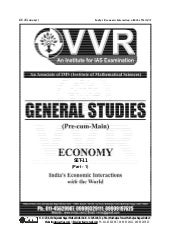 Vvr indias-economic-interaction-wit...