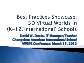VWBPE: Best Practices Showcase: 3D ...
