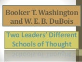 W. e. b. du bois and washington