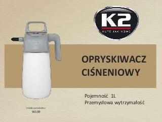 W109 Opryskiwacz ciśnieniowy Brake Cleaner