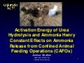 Activation Energy of Urea Hydrolysis and Ammonia Henry Constant Effects on Ammonia Release from Confined Animal Feeding Operations (CAFOs)