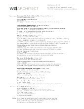 WZ Architect Resume + Experience