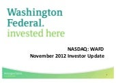 Washington Federal, Inc. video