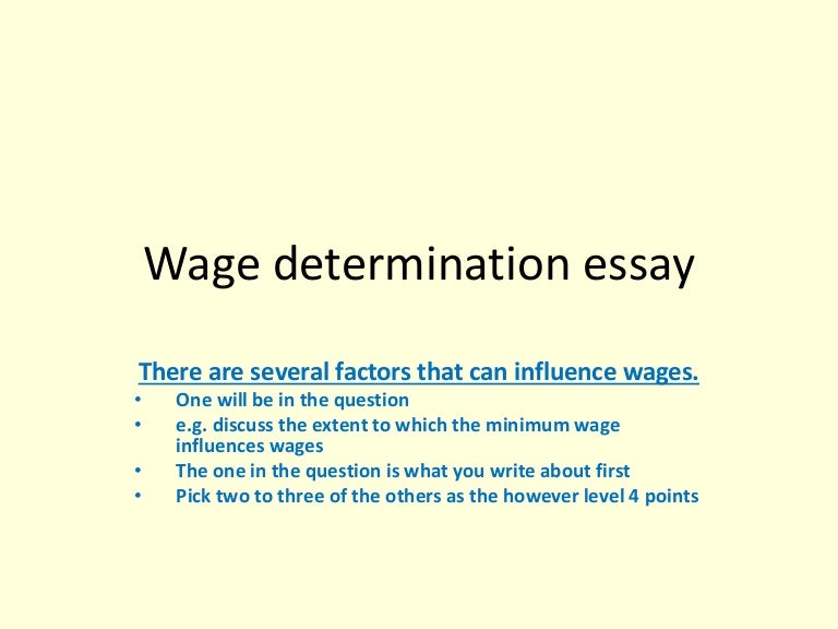 Essay on determination