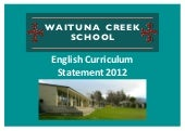 Waituna English Curriculum Statement