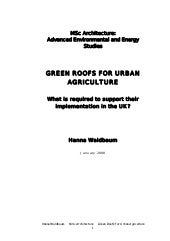 Green Roofs for Urban Agriculture