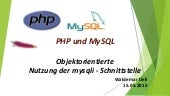 Object-orientied way of using mysqli interface - Workshop