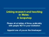 Linking research and teaching in Wa...