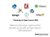 Choosing An Open Source CMS - Walpo...