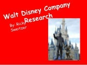 Walt disney company research