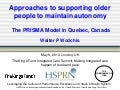 Walter Wodchis: the PRISMA model - approaches to supporting older people to maintain autonomy
