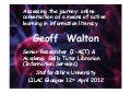 Walton - Assessing the journey: online conversation as a means of active learning in information literacy