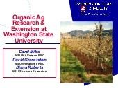 Organic Ag Research & Extensin at W...