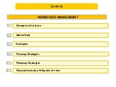 Warehouse management _part-i