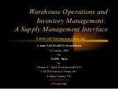 Warehouse Operations and Inventory ...