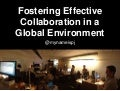 "[WARM GUN 2014] Amazon >> PJ McCormick, ""Fostering Effective Collaboration in a Global Environment"""
