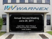 Warnex Annual Meeting of Shareholde...