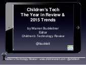 Warren Buckleitner - Children's Tech: The Year in Review and Trends for 2015