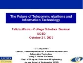The Future of Telecommunications an...