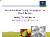 Genomics: The coming challenge to t...