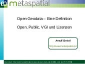 Was ist Open Data?