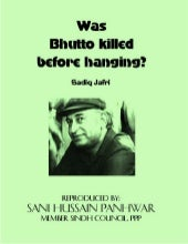 Was bhutto killed_before_hanging