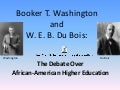Washington And Du Bois