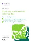 Grant Thornton - Waste and environmental sector update 2012