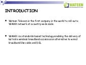 Wateen Wimax  Marketing Research