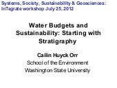 Water Budgets and Sustainability: Starting with Stratigraphy