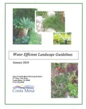 Water Efficient Landscape Guideline...