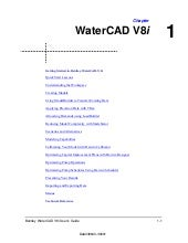 Water cad v8i user's guide