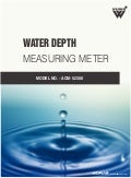 Water depth measuring meter