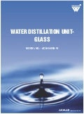 Water Distillation Unit Glass by ACMAS Technologies Pvt Ltd.
