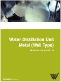 Water distillation unit   metal (wall type) (acm-54091- w)