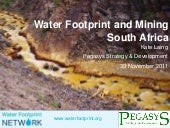 Water footprint for mining in South...