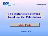 Water issue between israel and the ...