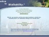 Best Practices for Walkability