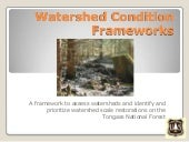 Watershed Condition Frameworks by A...
