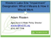 "Western Lake Erie ""impairment"" designation: What does it mean? How can it happen?"