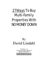 27 Ways To Buy Multi-Family Propert...