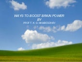 Ways To Boost Brain power