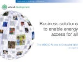 WBCSD Access to Energy Initiative -...
