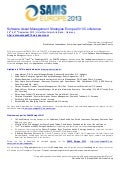 2nd annual Software Asset Management Strategies Europe 2013 conference