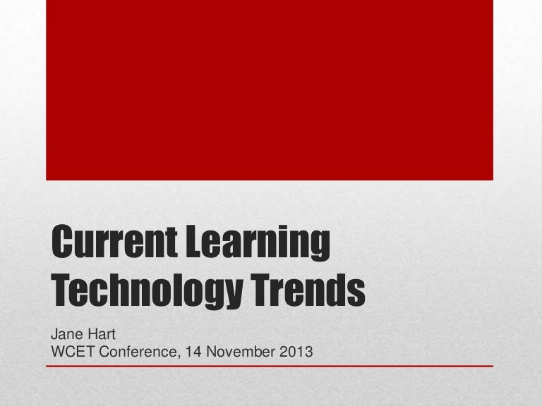 Current Learning Technology Trends