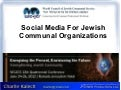 Social Media for Jewish Communal Organizations